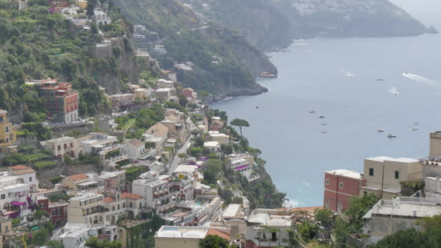 View over Positano, Costiera Amalfitana (Amalfi Coast), UNESCO World Heritage Site, Province of Salerno, Campania, Italy, Europe