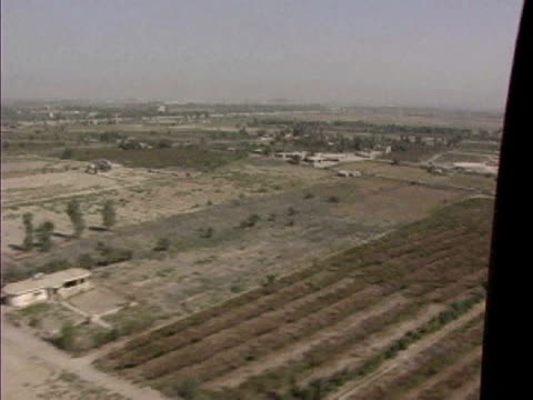View over rural fields / Baghdad Iraq / AUDIO