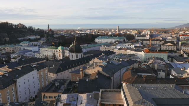 view over salzburg with mirabell palace, sazburg, austria - traditionally austrian stock videos & royalty-free footage