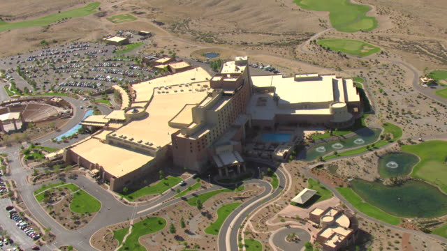 WS AERIAL View over Sandia Resort and Casino / Albuquerque, New Mexico, United States