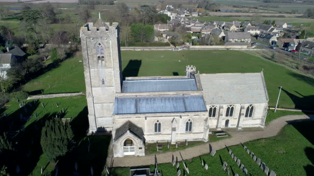 View over St Andrews Church and Ufford village,