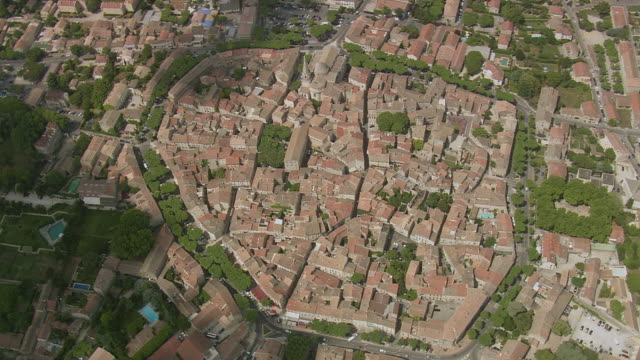 WS AERIAL DS View over St Remy De Provence / Provence Alpes Cote D'Azur, France