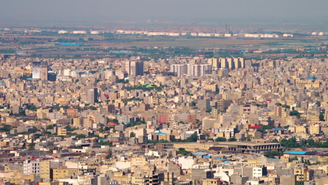view over tabriz with industry in the distance - iran stock videos & royalty-free footage