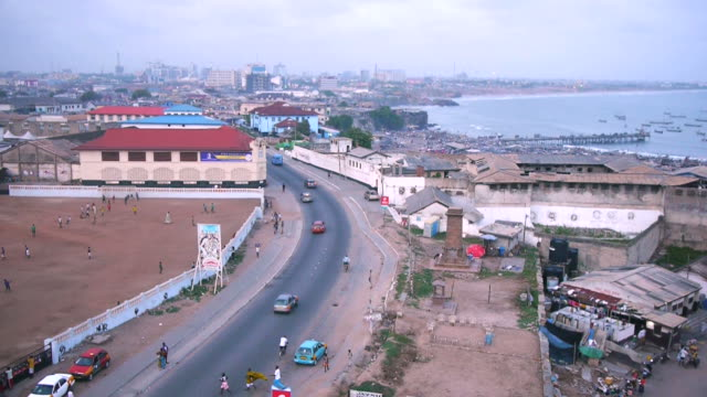 view over the bay and accra, ghana - ghana stock videos & royalty-free footage