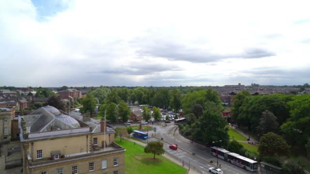 en vy över staden york i england, storbritannien - yorkshire bildbanksvideor och videomaterial från bakom kulisserna