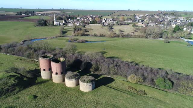View over the disused brick kilns and Barrowden village,