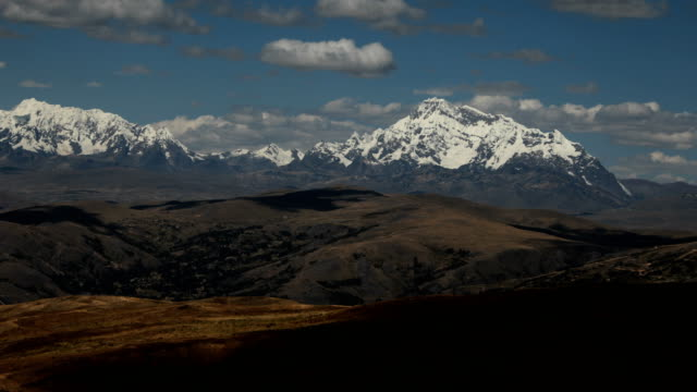 a view over the landscape towards ausangate during the annual qoyllur rit'i festival on may 29 2018 in ocongate peru every year since 1783 in the... - religious celebration stock videos & royalty-free footage