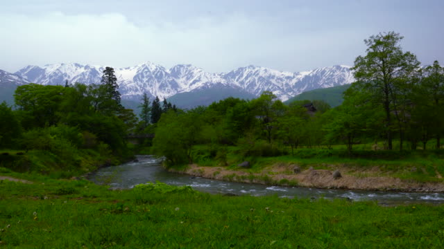 View over the mountains of Hakuba