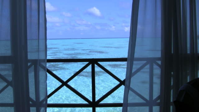view over the ocean - hotel stock videos & royalty-free footage