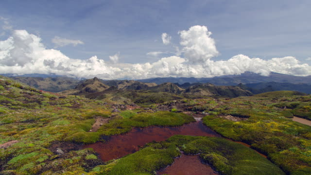 view over the paramo from the eastern cordillera of the andes, near papallacta, ecuador at 4,500m elevation. - paramo stock videos and b-roll footage