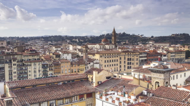 View over the rooftops of Florence, Tuscany, Italy.