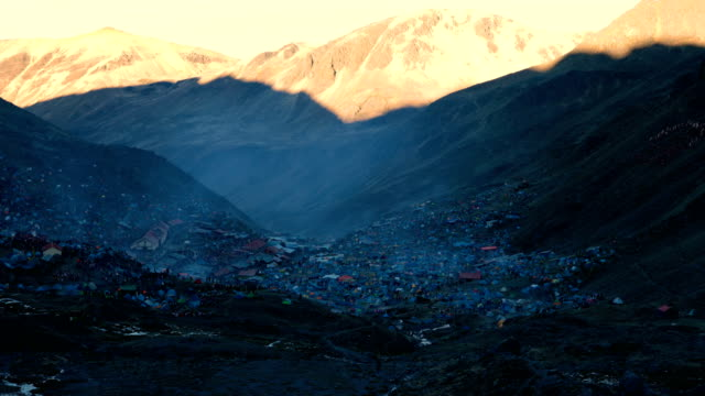 a view over the site during the annual qoyllur rit'i festival on may 28 2018 in ocongate peru every year since 1783 in the sinakara valley at the... - religious celebration stock videos and b-roll footage