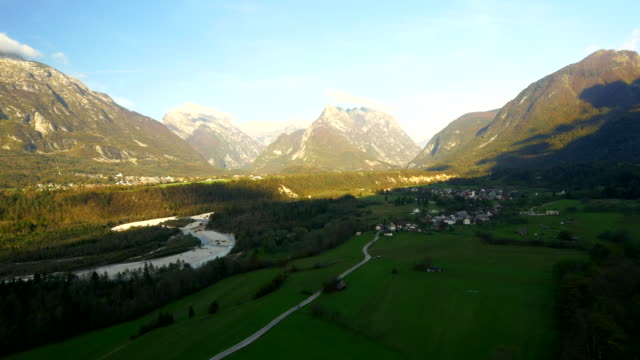 AERIAL View Over The Soca River