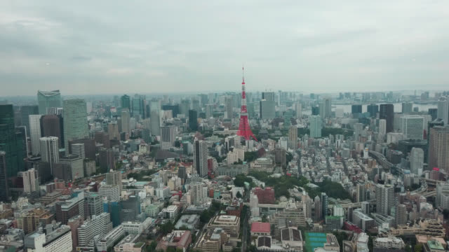 view over tokyo - distant stock videos & royalty-free footage