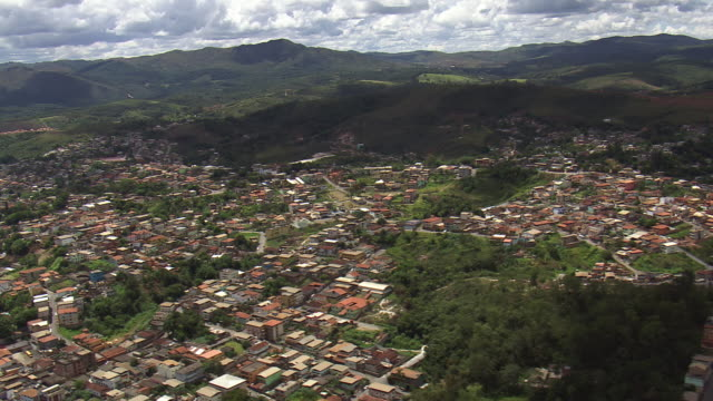 ws aerial view over town / minas, gerais brazil - minas gerais stock videos and b-roll footage