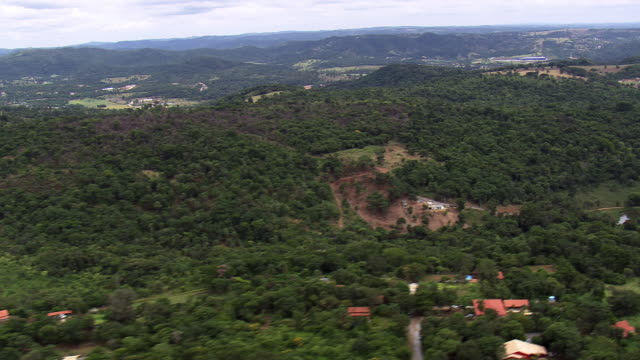 ws aerial view over trees / minas gerais, brazil - minas gerais stock videos and b-roll footage