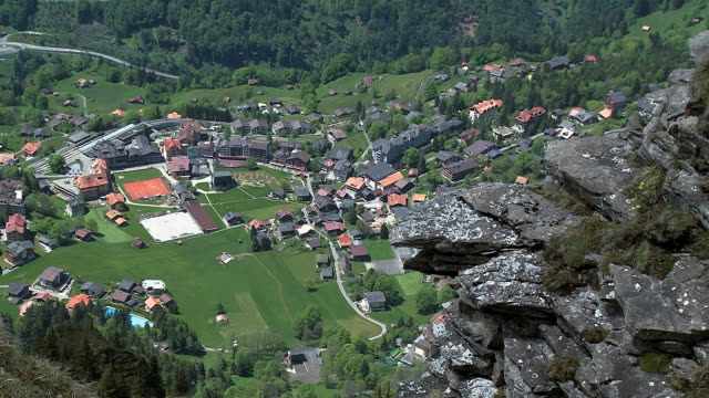 WS HA View over Wengen and village / Mannlichen, Bernese Oberland, Switzerland