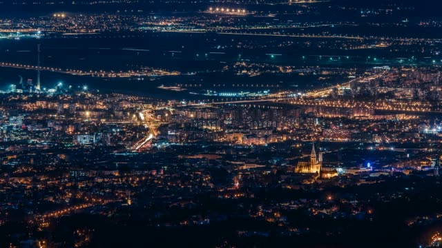 view over zagreb, croatia - zagreb stock videos and b-roll footage