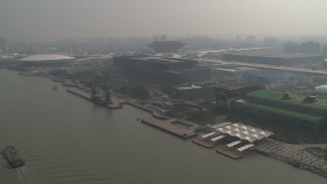 view overlooking site of 2010 world expo in shanghai, china, china - 2010 stock videos and b-roll footage