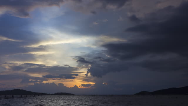 view point of the nature,  sunset in songkhla province - songkhla province stock videos and b-roll footage