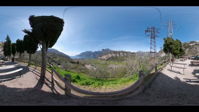 360 VR / View point to Lake Garda and Torbole