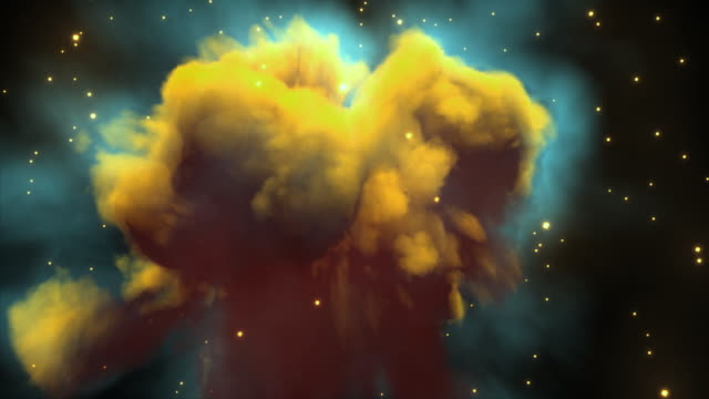 ws view reversing through nebula then orbiting its exterior. - nebula stock videos & royalty-free footage