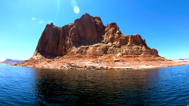 view sandstone rock cliffs formations lake powell america - lake powell stock videos & royalty-free footage