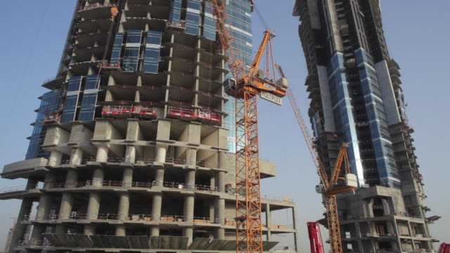 WS TU View skyscraper construction site / Dubai, United Arab Emirates