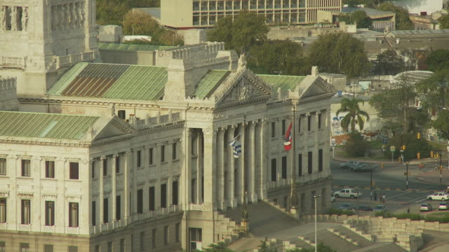 stockvideo's en b-roll-footage met view the national legislature building, uruguay - uruguay