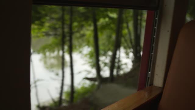 vídeos y material grabado en eventos de stock de view through a train window on a heritage railway in the catskill mountains, new york state, usa. - estilo siglo xix