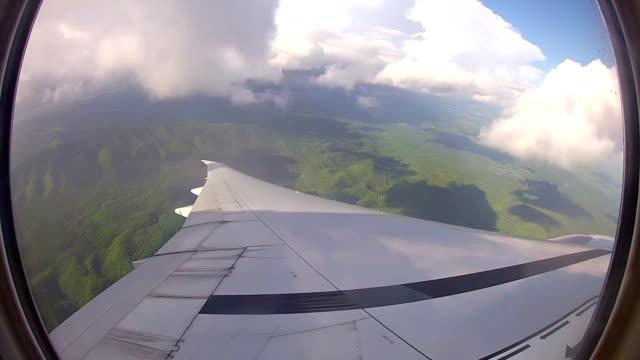 Blick aus dem Flugzeug-Fenster Kuba