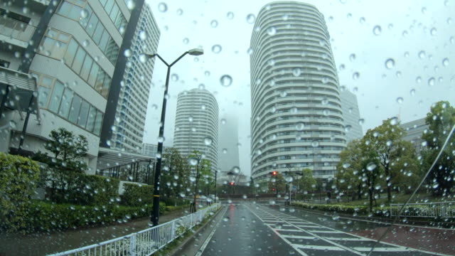 view through the rain - windscreen stock videos & royalty-free footage