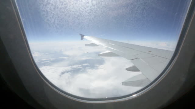 View through the window of a passenger plane
