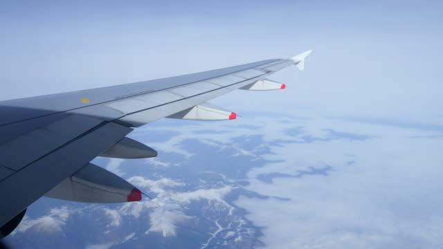 View through window of an aircraft