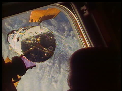 view thru endeavour shuttle window of hubble telescope above earth - hubble space telescope stock videos & royalty-free footage