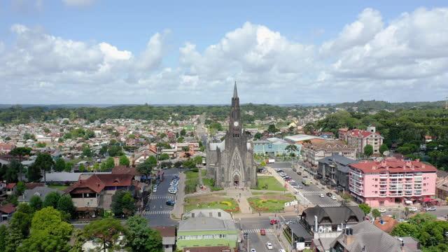 カネラ教会、リオグランデ・ド・スル、ブラジルへの眺め - リオグランデドスル州点の映像素材/bロール