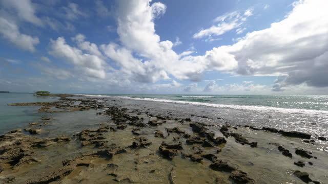 stockvideo's en b-roll-footage met mening aan het strand van carneiros, pernambuco, brazilië - sunny