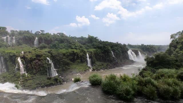 view to iguazu falls, foz do iguaçu, brazil - international landmark stock videos & royalty-free footage