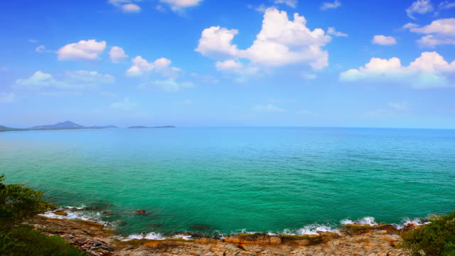 view to the sea - horizon over water stock videos & royalty-free footage