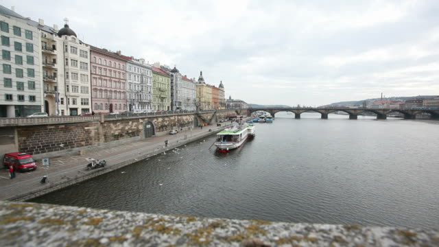 view to vltava, prague, chech republic, hd video - traditionally czech stock videos and b-roll footage