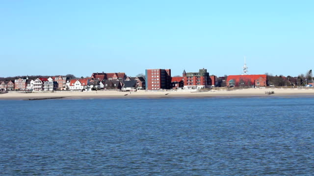 view to wyk / föhr in germany - sylt stock videos & royalty-free footage
