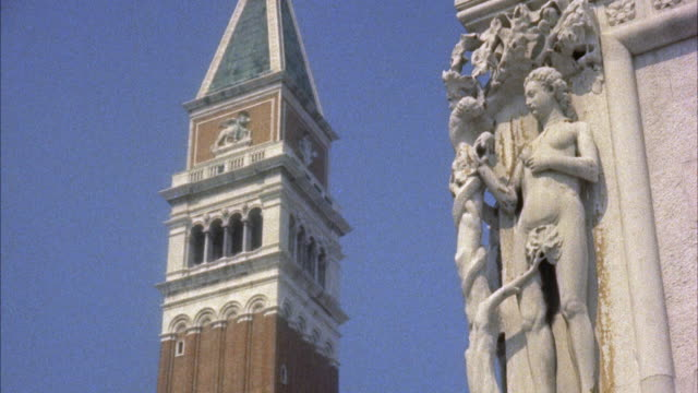 ms view top of buildings at entrance to venices grand canal / venice, italy - female likeness stock videos & royalty-free footage