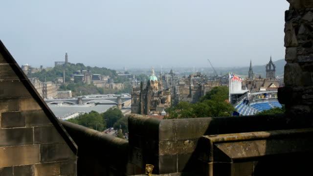 View towards Edinburgh City from Edinburgh Castle, scotland