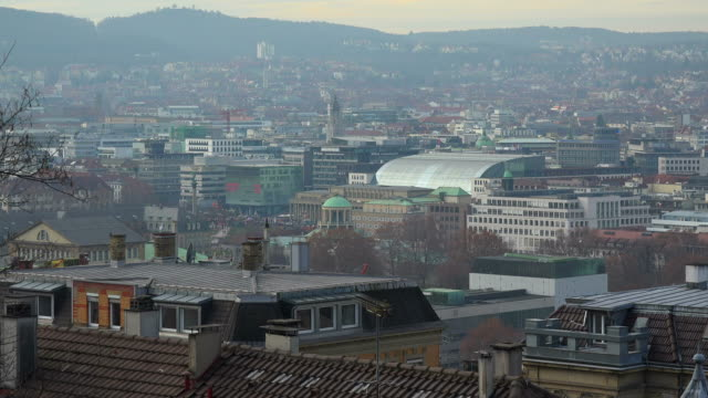 view towards the city of stuttgart, baden-wuerttemberg, germany - campo totale video stock e b–roll