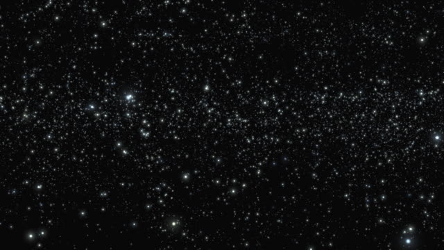 ws view traveling left to right through star field. - 宇宙探検点の映像素材/bロール