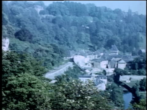 viewing a german town / germany - nachkriegszeit stock-videos und b-roll-filmmaterial
