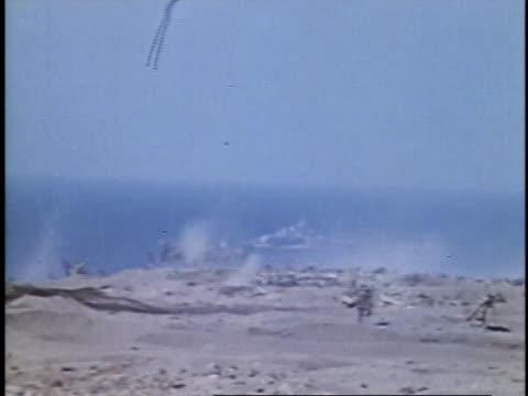 viewing an explosion / iwo jima, japan - battle of iwo jima stock videos & royalty-free footage