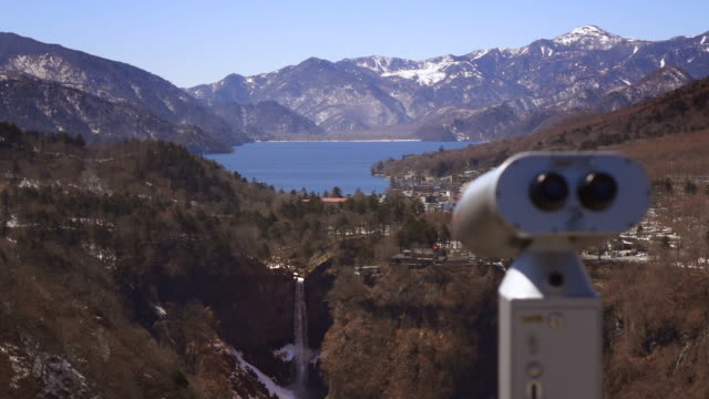 viewing scope (binoculars) at lookout point - Japan