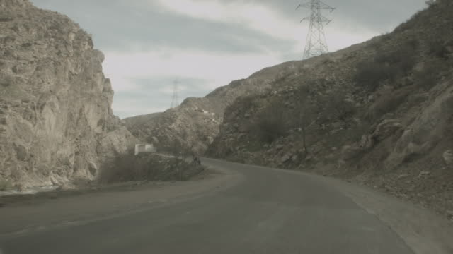 viewpoint from a moving vehicle at the city of kabul - kabul stock videos & royalty-free footage