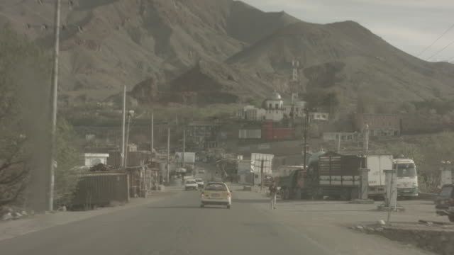 viewpoint from a moving vehicle at the city of kabul - afghanistan stock videos & royalty-free footage